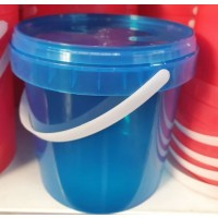 Bucket - 1lt Fino Transparent Blue Complete