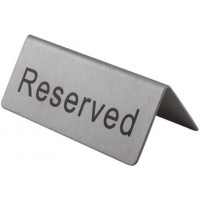 Reserved Sign For Table S/steel(90x45x45mm)