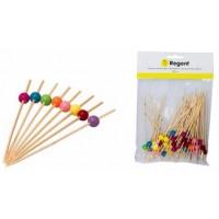 Bamboo Disp. Picks W/ass. Beads 50pcs(120mm)