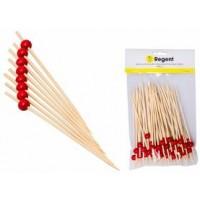Bamboo Disp. Picks W/red Beads 50pcs(150mm)