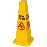 Cone - Wet Floor Sign 700mm Yellow