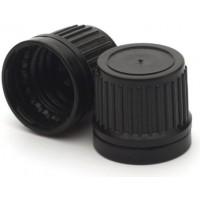 Lid - Black Cap Tamper Proof Seal 18mm