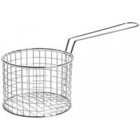 Chip Serve Fryer Basket With Handle Round