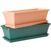 Pot Plant - Window Box 32cm Green