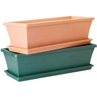 Pot Plant - Sill Planter And Saucer 50cm Green