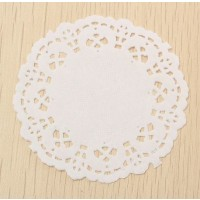 Doilies 230mm White Paper 24s