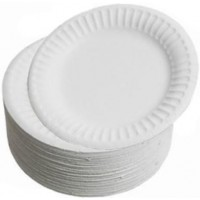 Paper Plate - 180mm White