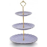 Cake Stand - 3 Layer Purple /each