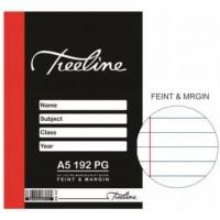 Book - A5 128pg H/c M-script Feint-m