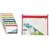 Pvc Book Bag - Ass Colours With Zip