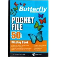 Flip File - A4 50 Pocket - Butterfly