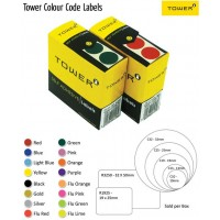 Tower Label - C32 Fluorescent Lime