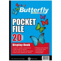 Flip File - A4 20 Pocket - Butterfly