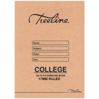 Book - A4 72pg College Ex 17mm Ruled