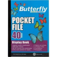 Flip File - A4 40 Pocket - Butterfly