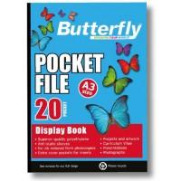 Flip File - A3 20 Poket - Butterfly