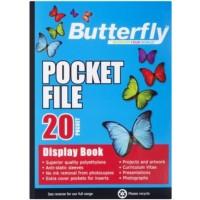 Flip File - A5 20 Pocket - Butterfly