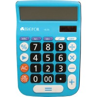 Calculator - 12 Digit Trefoil 1636 - Blue