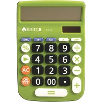 Calculator - 12 Digit Trefoil 1643 - Green