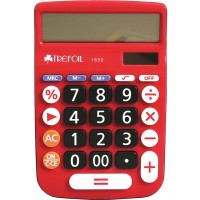 Calculator - 12 Digit Trefoil 1650 - Red