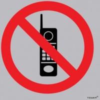Tower - Aluminium Sign Std No Cellphones