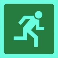 Tower - Sign Man Running Right