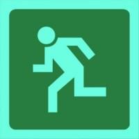 Tower - Sign Man Running Left