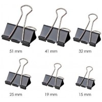 Foldback Clips - 15mm Black