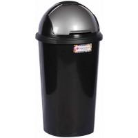 Waste Bin - Round Lift Black 50lt